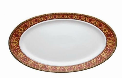 Versace Medusa Red Fish Plate 50cm